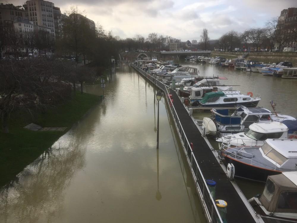 La crue de 2018 au Port de l'Arsenal