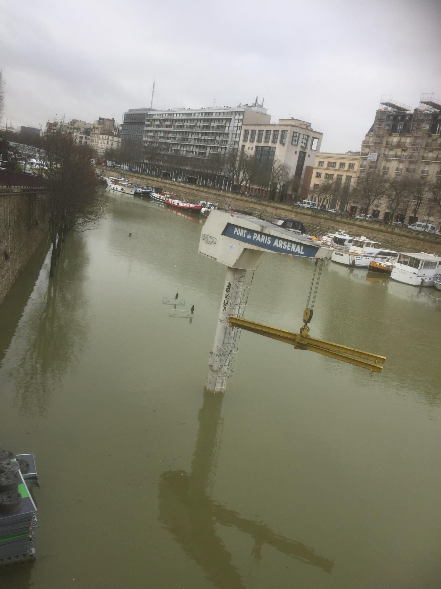 La crue de 2018 au Port de l'Arsenal